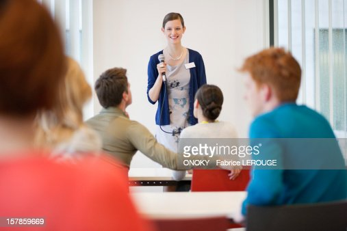 Business executives in a seminar : Stock Photo