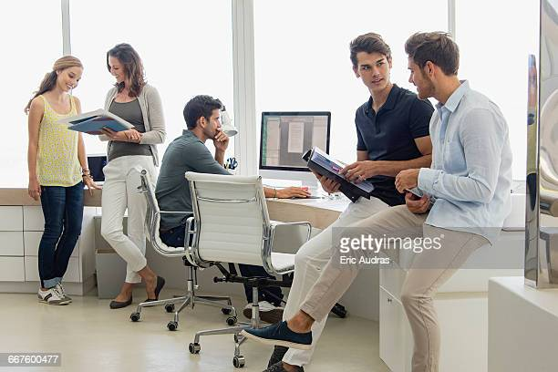 Business executives in office