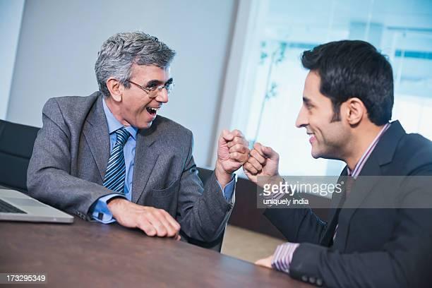 Business fist bump