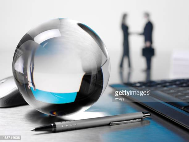 Business Zukunft in Crystal Ball