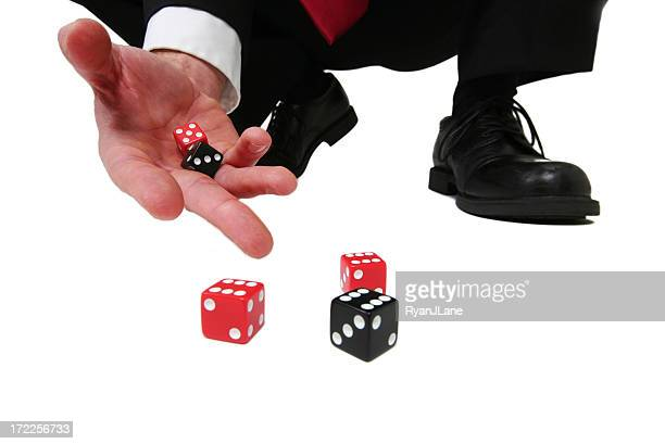 Business Gamble Dice Isolated on White Background