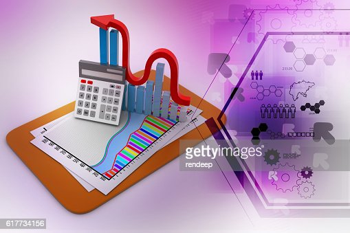 Business graph : Stock Photo