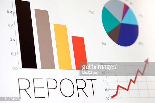 Business graphic of bar chart and pie chart