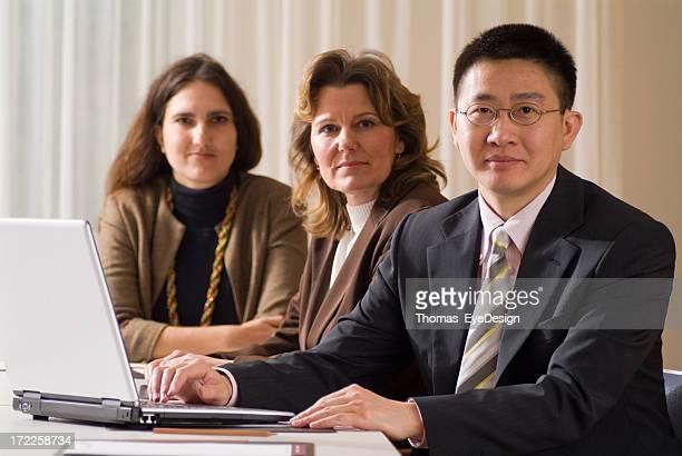 Business group having a meet.