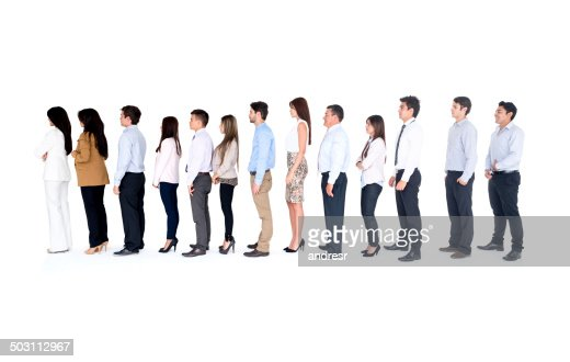 Business group in a row