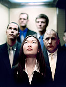 business group in elevator