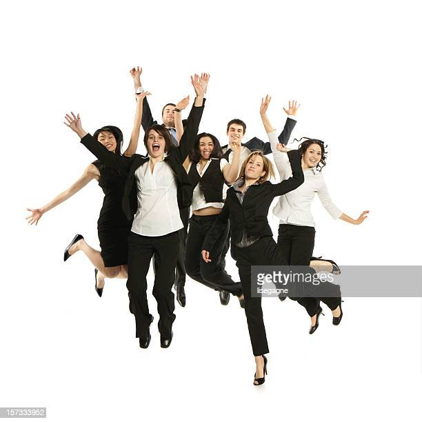 Business Group Jumping