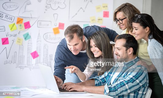 Business group working online