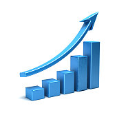 Business Growth Bar Graph Curve Illustration