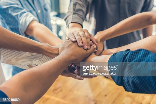 Business handshake and business people : Stock Photo