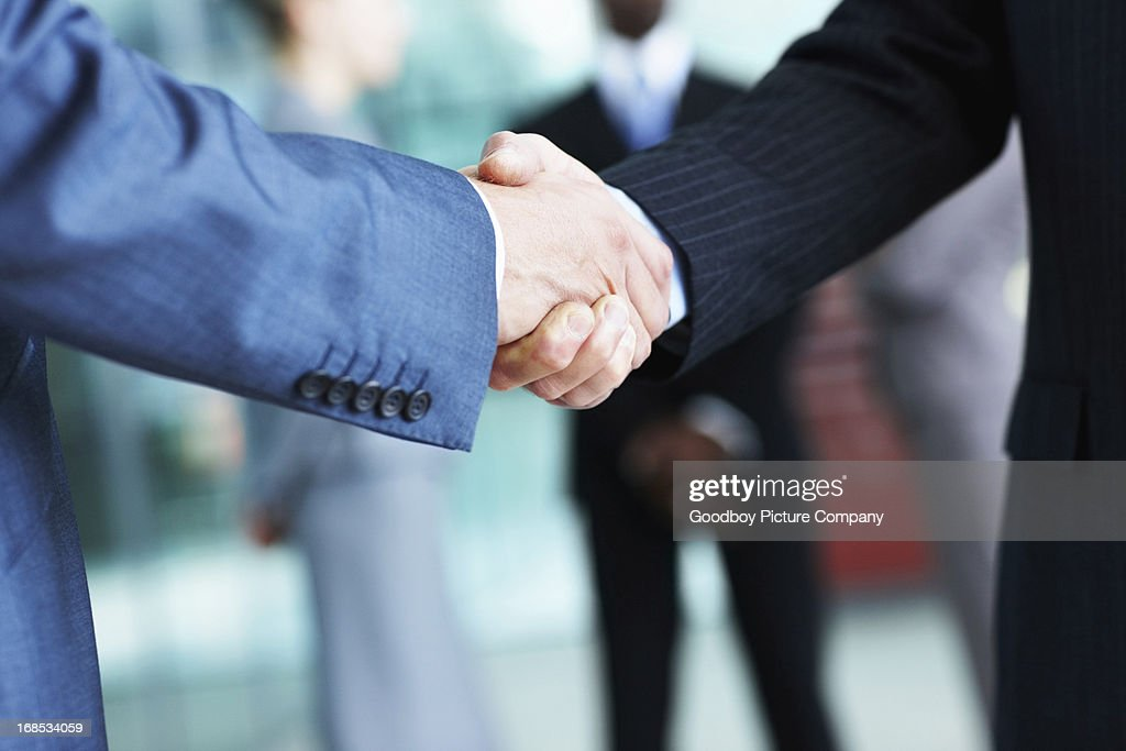 Business handshake : Stock Photo