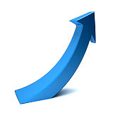 Business Index Arrow Up. 3D Render Illustration