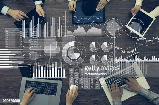 Business information and infographics concept. : Stock Photo