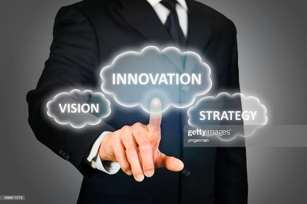 Negócios da inovação, Visão e estratégia : Foto de stock