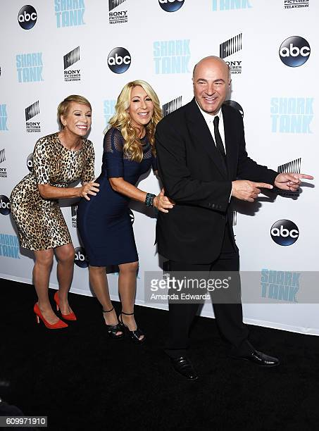 Business investors and television personalities Barbara Corcoran Lori Greiner and Kevin O'Leary attend the 'Shark Tank' Season 8 Premiere at the...