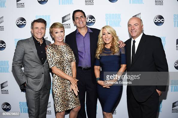 Business investors and television personalities Robert Herjavec Barbara Corcoran Mark Cuban Lori Greiner and Kevin O'Leary attend the 'Shark Tank'...