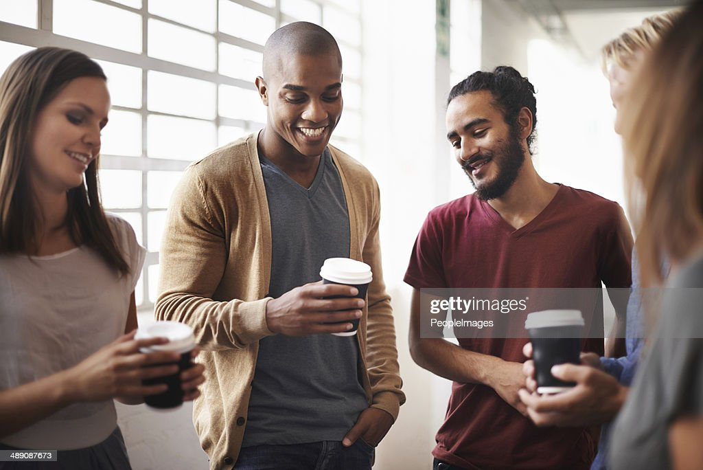 Business is best when you feel comfortable : Stock Photo