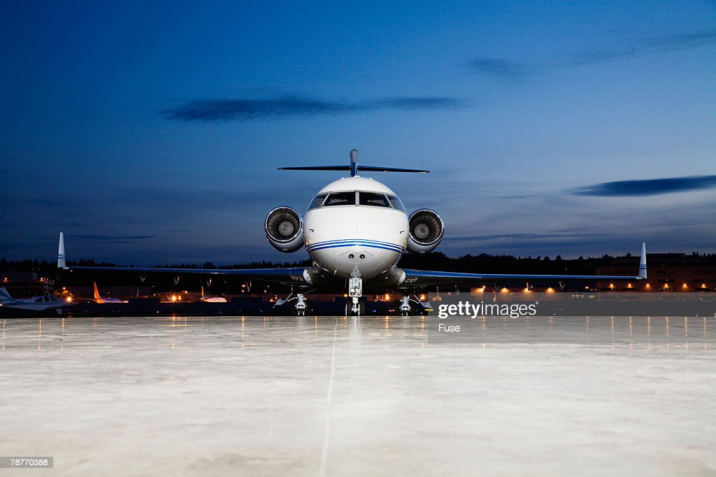 Business Jet Parked on Tarmac