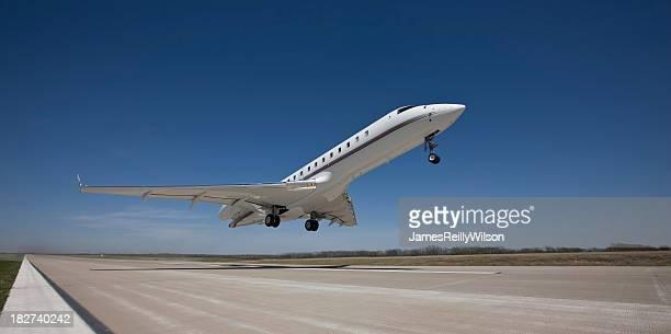 Business Jet Rockets Off The Runway