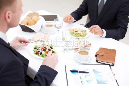 Almuerzo de negocios : Foto de stock