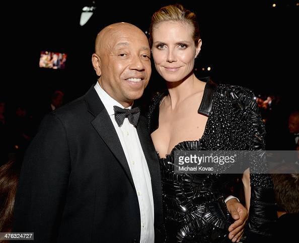 Business magnate Russell Simmons and tv personality/model Heidi Klum attend the 22nd Annual Elton John AIDS Foundation Academy Awards Viewing Party...