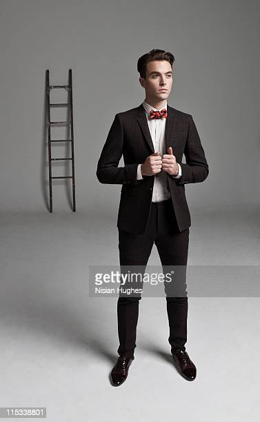 Business man and ladder