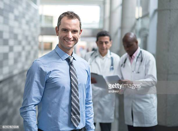 Business man at the hospital