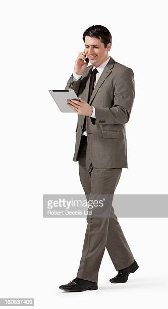 Business man chatting on smart phone