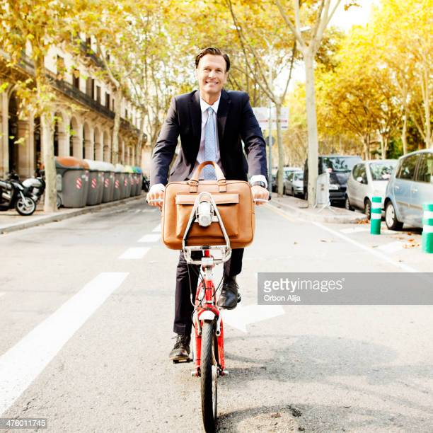 Business man cycling