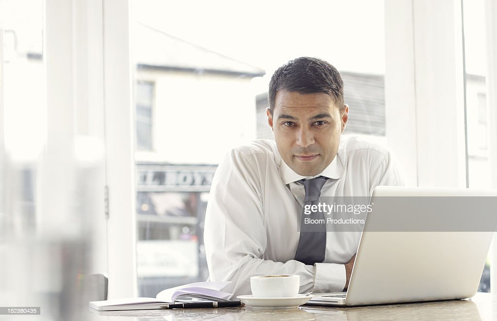 business man in a cafe/restaurant : Stock Photo