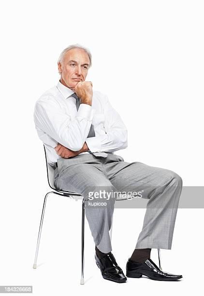 Business-Mann mit einem nachdenklichen Stimmung