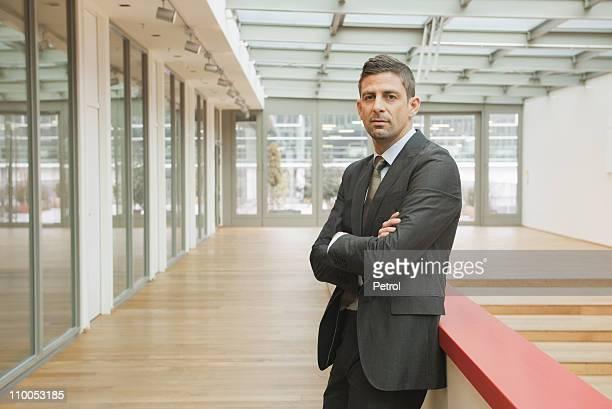 Business man looking at camera