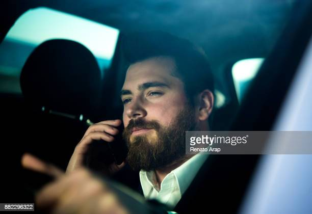 Business man on mobile phone