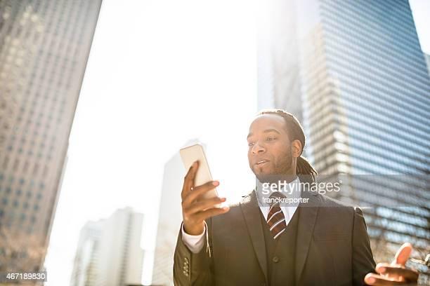 ビジネス男は電話での