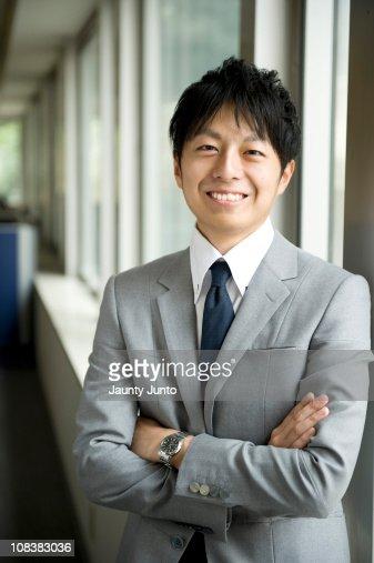 business man portrait in office