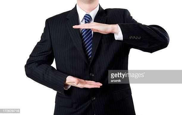 Hombre de negocios que presenta