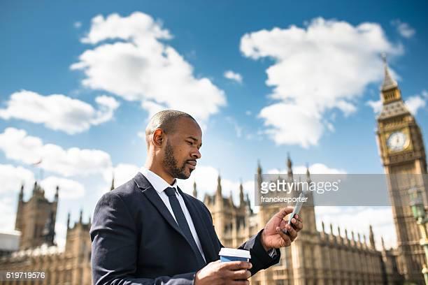 ビジネスの男性は自分撮りでは、ビッグベン