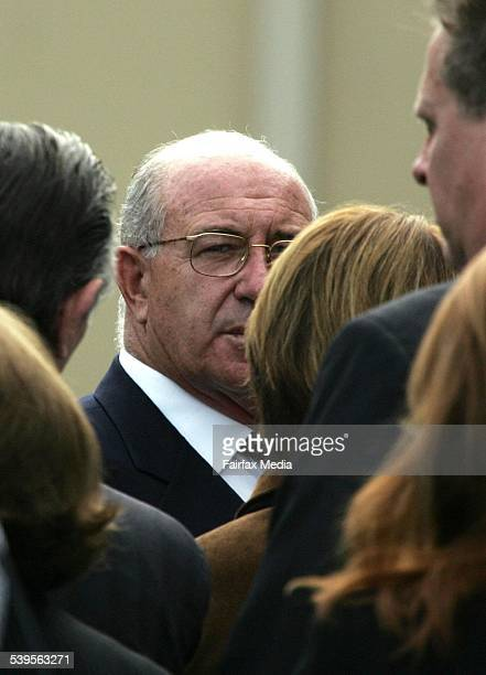 Business man Trevor Kennedy middle with grey hair and glasses attends the funeral of Rene Rivkin at Eastern Suburbs Crematorium in Matraville Sydney...