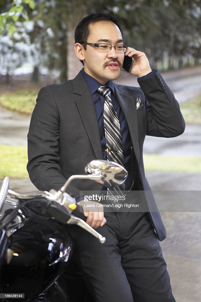 Business man using cell phone. : Stock Photo