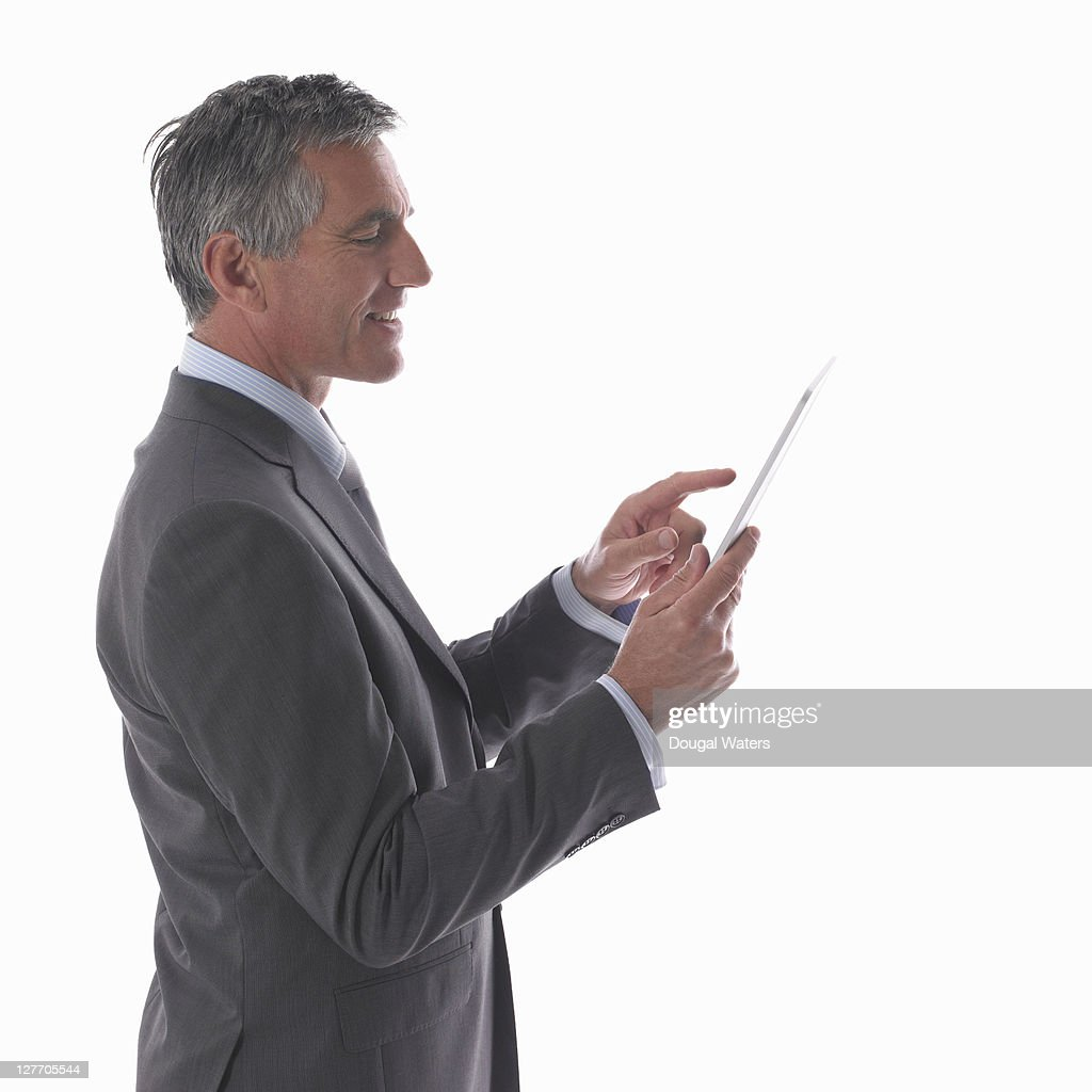 Business man using digital tablet. : Stock Photo