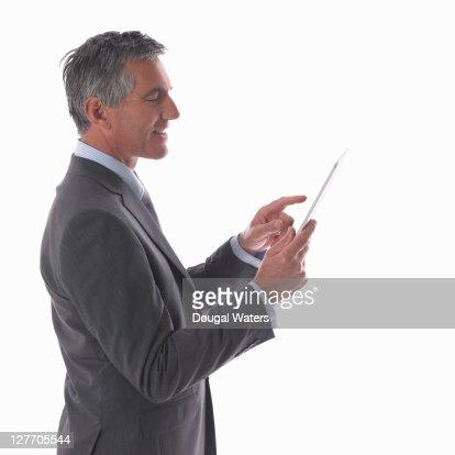 Business man using digital tablet. : Stock Photo