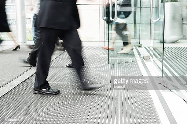 business man walking to office