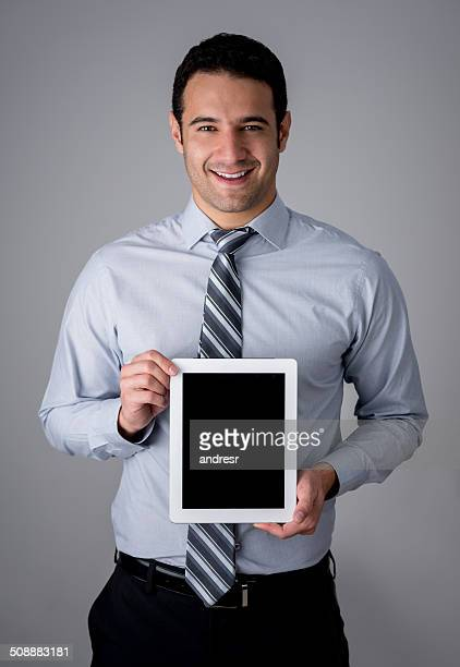 Business man with a tablet computer