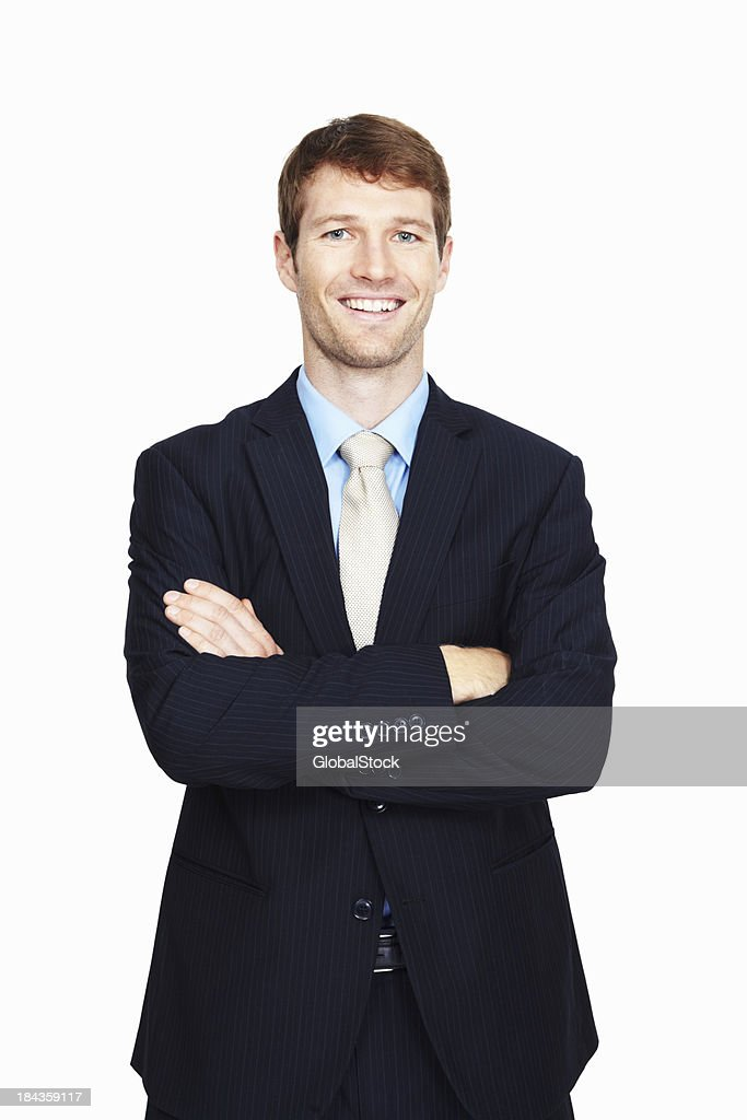Business man with arms crossed : Stock Photo