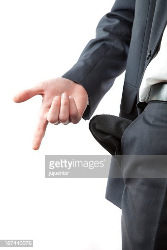 business man with no money : Stock Photo