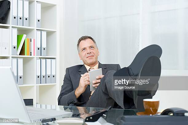 Business man with notepad