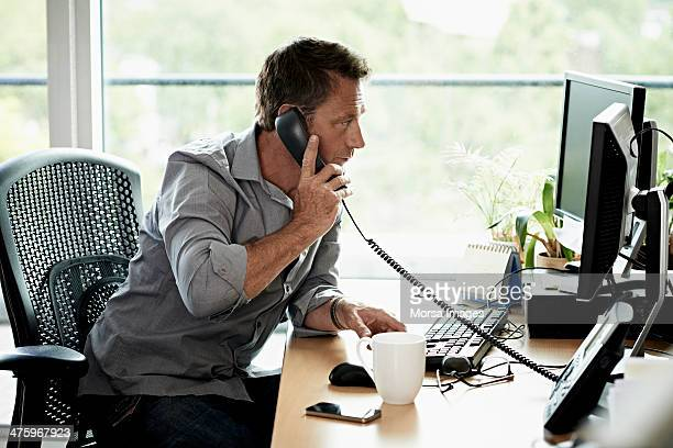 Business man working in modern office