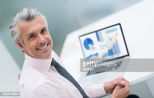 Business man working online