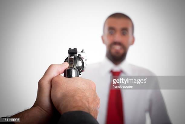 ビジネスマネージャーにはまり Sucess の拳銃
