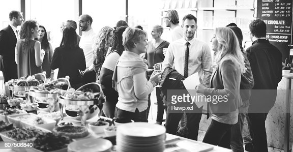 Business Meeting Eating Cheers Happiness Concept : Stock Photo